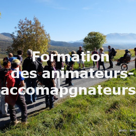 Formation des animateurs-accompagnateurs